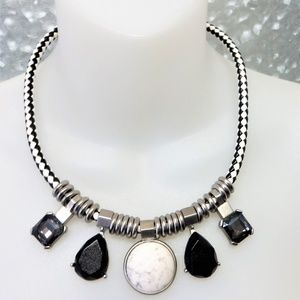 80's Edgy Industrial Glam statement Necklace